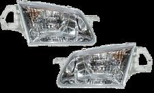 99 00 Protege 323 Left & Right Headlight Light Headlamp Lamp Light Pair L+R