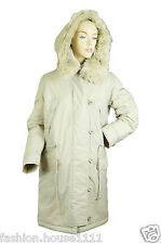 New TIMBERLAND PRIMALOFT Waterproof Parka Jacket - Women's - Beige - 29212 047