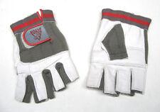 Fahhradhandschuhe Fingerless Leder Stretch grau fingerlos Fitness Handschuhe