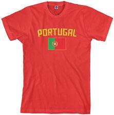 Threadrock Men's Portugal Flag T-shirt Portuguese Lisbon Soccer