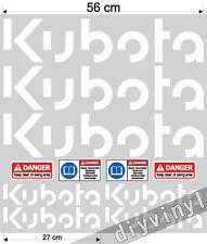 KUBOTA Stickers Decals Mini Digger Excavator machine pelle excavateur Bagger