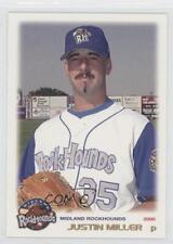 2000 Grandstand Midland RockHounds #35 Justin Miller Sacramento River Cats Card