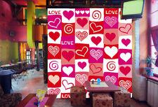 3D Rose Cœur 09 Photo Papier Peint en Autocollant Murale Plafond Chambre Art