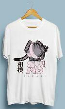 Vintage NWT Crazy Cat Summo Hawaii Kliban Tshirt Gildan Size S M L XL 2XL