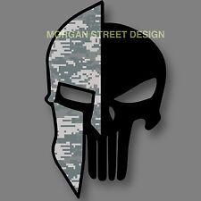 "Punisher Spartan Army Combat Uniform ACU Die Cut Decal Sticker Car Truck5"""