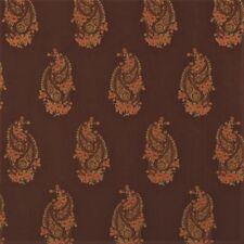 Fabric Robert Allen Beacon Hill Kimball Teak 100% Silk Embroirdered Drapery HH11