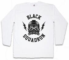 BLACK SQUADRON VINTAGE I LONG SLEEVE T-SHIRT Star Tie Pilot Imperial Wars Saga