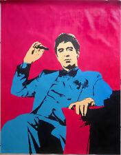 Scarface peinture à l'huile non imprimé Poster peint main art cadrage bénéficier parrain.