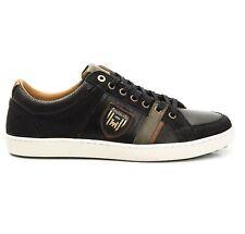 Chaussures Sneakers En Cuir Homme Pantofola d'Oro Tarente Faible noir 10183022
