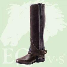 EQvvs Suede Riding Half Chaps - Black or Brown