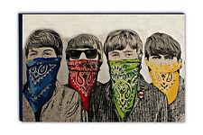 BANKSY - THE BEATLES Bandanas Graffiti Canvas Picture VARIOUS SIZES