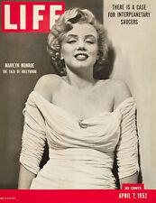 Marilyn Monroe... la Vida Tapa De Revista De Abril De 1952 Retro Cartel A1 A2 A3 A4 Tamaños