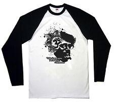 Terence McKenna Béisbol Camiseta Mangas Largas Om Símbolo ácido LSD Alta