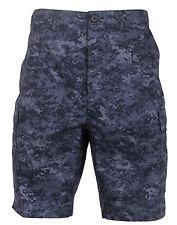 military style bdu shorts dark blue navy digital camo camouflage rothco 68213