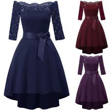 AU Women 3/4 S;eeve Lace Formal Ladies Cocktail Party Bridesmaid Dress Size 8-18