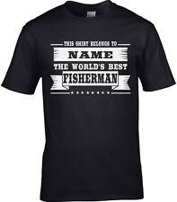Pescador hombre camiseta personalizada Pesca Lake PECES MAR REGALO
