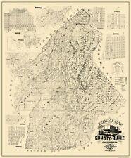 Old County Map - Butte Maryland Landowner - 1877 - 23 x 27.75