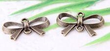 Wholesale 30/68Pcs Bronze Plated(Lead-Free)Bow-Knot Connectors 21x14mm