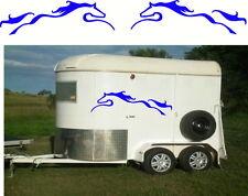 Carefree Horses, Float, Trailer, Caravan, Truck Mirrored Sticker Decal Set