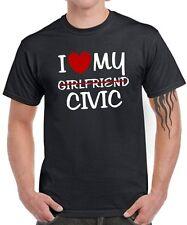 Fun T-shirt I love my girlfriend Civic Tuning V-Tec rencontre Honda Parody Satire