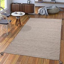 Handwebteppich Wohnzimmer Natur Webteppich Kelim Modern Baumwolle In Beige
