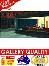 NEW Edward Hopper, Nighthawks Night Hawks Bar 1942, Giclee Art Print or Canvas