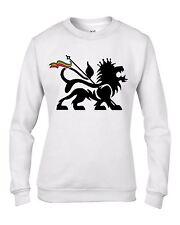Lion of Judah Reggae Women's Sweatshirt Jumper - Rasta Bob Marley