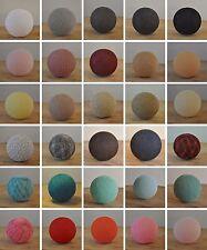 Cotton Ball Lights Baumwollkugeln Farbauswahl Deko Lichterkette Blau Weiß Rosa
