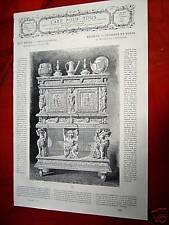 79-19-c Gravure 19e meubles crédence en noyer