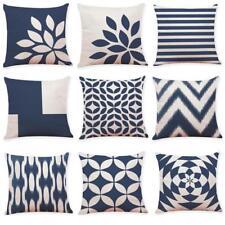 Home Car Decor Cushion Cover Dark Blue Style Throw Pillowcase Pillow Covers