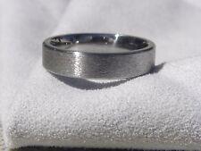 Titanium Ring, Wedding Band, Stone Finish, 5mm Width, Made Your Size,
