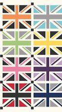 PNL86 Mini Union Jack British UK London Flag Cotton Fabric Quilt Fabric Panel