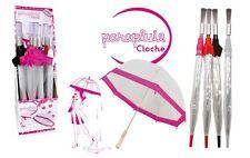 Parapluie femme fashion dôme de 80 cm cloche transparente plastique