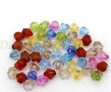 20 Stück Bicone Acryl Perlen 5 mm x 5 mm 8 Farben Spacer Beads