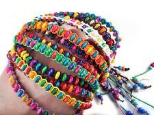 Hecho A Mano De Moda Pulseras De La Amistad Multicolores cuentas Cable Arco Iris De Regalo