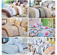 Blumenmuster Bettwäsche Einzel Doppel Wende Bett Bettdecke Bettbezug Set
