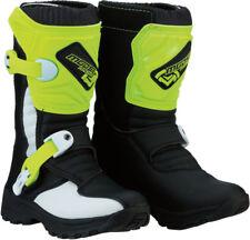 Moose Racing MX Off-Road Kid's M1.3 Boots (Black/Hi-Viz) Choose Size
