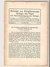 25 Biologie Vogel mit Berucksichtigung der Oologie 1924
