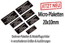 Adressschild Drohnen Plakette Kennzeichen Modellflugzeug Kennzeichnung RC Modell