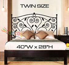"Wall Decor Decal Sticker Removable Headboard DC052 TWIN SIZE 40""W x 28""H"