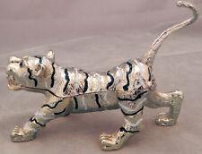 Rhinestone Tiger Pill/Trinket Box