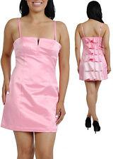Women Dress Prom cocktail clubwear ruffle back party dresses