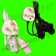 CERTIFICAZIONE CE SES E14 Edison 3 Pin Luce Spina Kit Porta-lampada VENDITORE UK