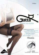 """Gatta """"Shania"""" Strumpfhose in Netz-Halterlos-Optik in schwarz"""