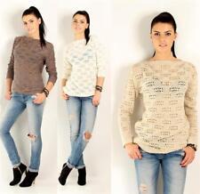 Pullover Longshirt Strickpullover Pulli in 4 Farben Gr. S M 36 38 S12