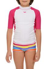 ARENA - RASHGUARD - UV T-SHIRT GIRL JR - 1B14619 - WHITE, ROSE