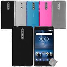 Housse etui coque pochette silicone gel fine pour Nokia 8 + verre trempe