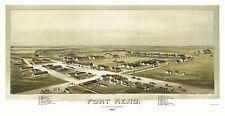 Panoramic Print - Fort Reno Oklahoma - Fowler 1891 - 23 x 44.55