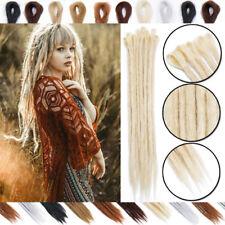 UK Long Wind Handmade Dreadlocks Soft As Real Human Braiding Hair Extensions hss