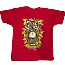 Kids Girls Australian Day Australia Souvenir T Shirt Childrens Top Flappy Pink